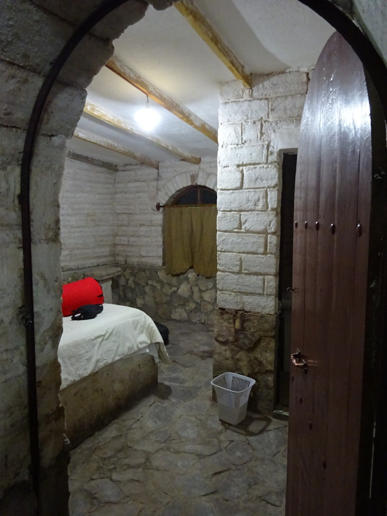 And when we finally arrived at our hostal we found out it was actaully made entirely of salt! Even the bed is on a salt platform.