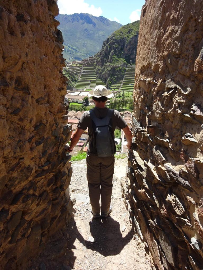 Aaron in ruins.