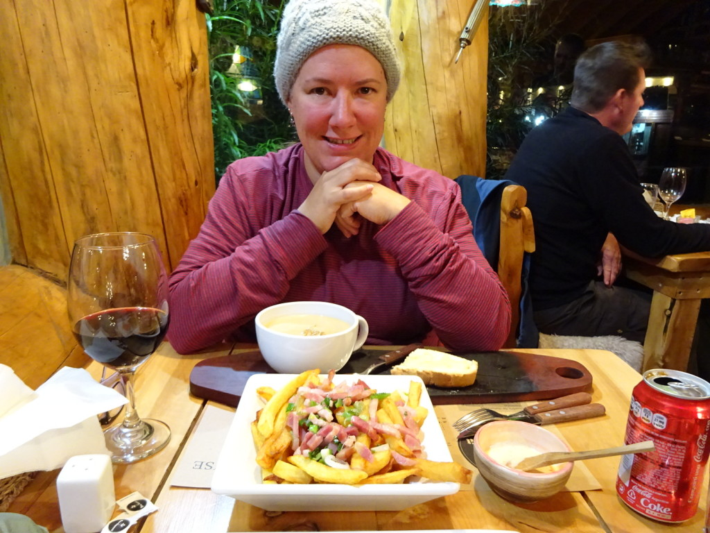 And after 20 miles of hiking you can totally have delicious creamy soup and french fries for dinner!
