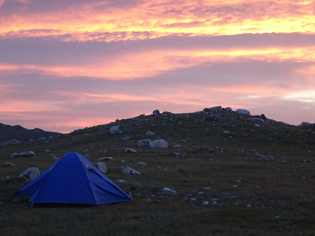 Welcome to sunrise in Mongolia!