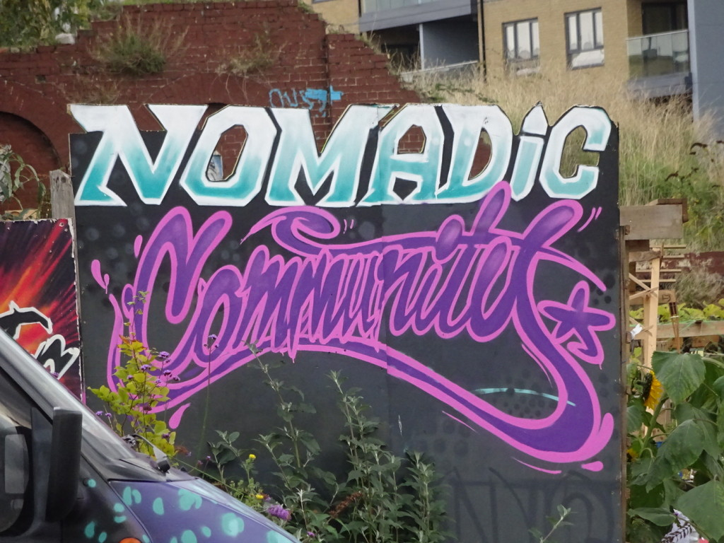 Even though we aren't street artists, I'd like to think Anner and I are part of the Nomadic Community!