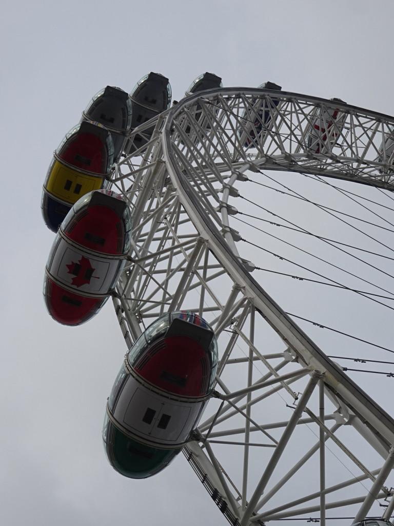 The huuuge London Eye ferris wheel built for the London Olympics.
