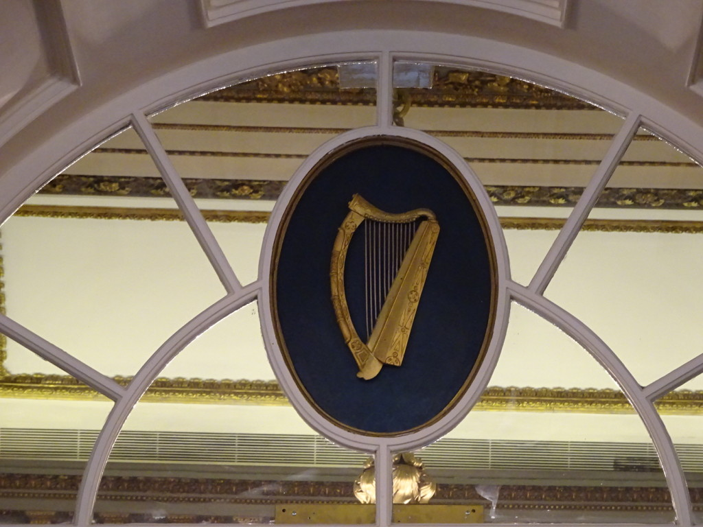 The Guinness family gave the Irish government permission to use their harp logo...but required them to flip it's direction!