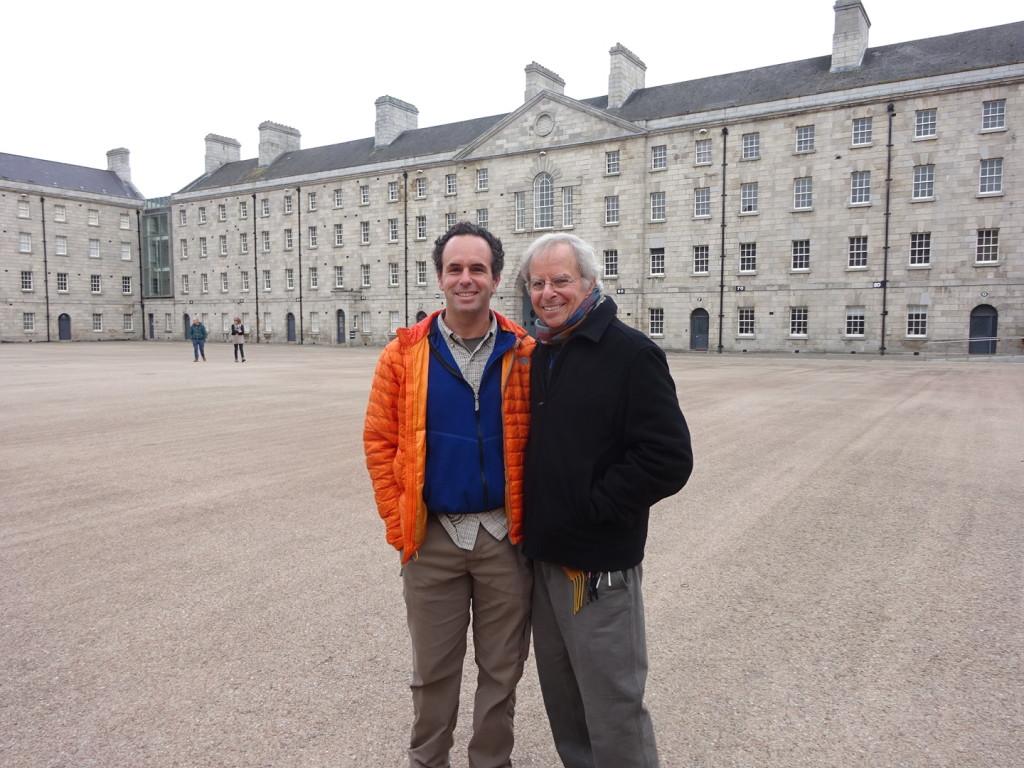 The Barr Boys in the Dublin Castle square.