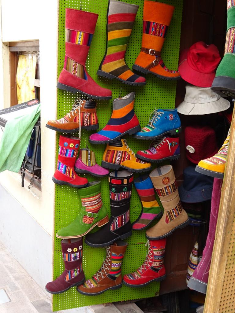 The. Cooolest. Boots! Cusco, Peru.