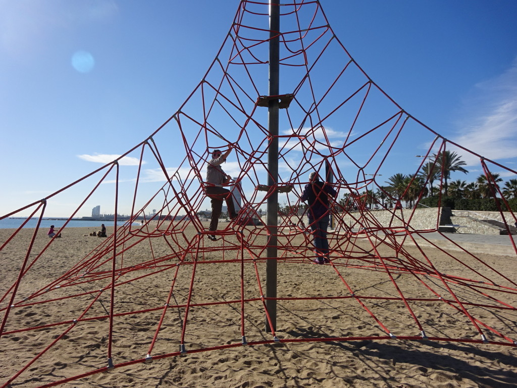 We all tried climbing this contraption by the sea. It was much harder than it looks and yet, I want one in my front yard.