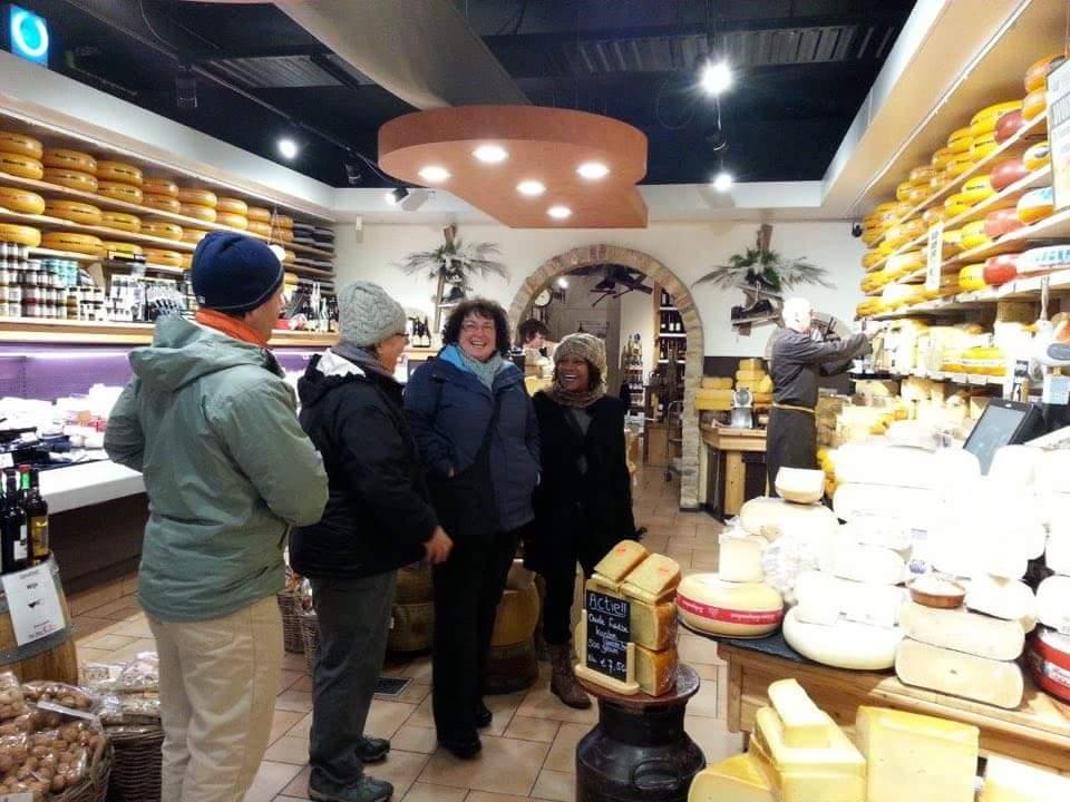 Sampling cheese is super fun!