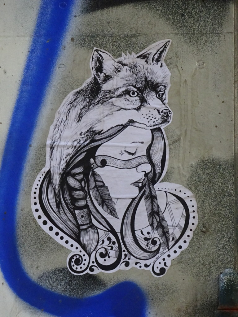 A prime example of a Mischief paste-up (i.e. - a print out of a design that is paste-glued to a wall/door/etc.).