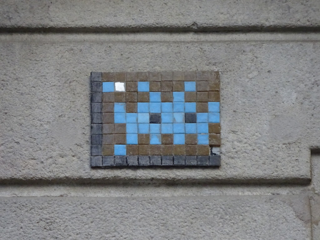 Here's the one old Invader piece we came across.