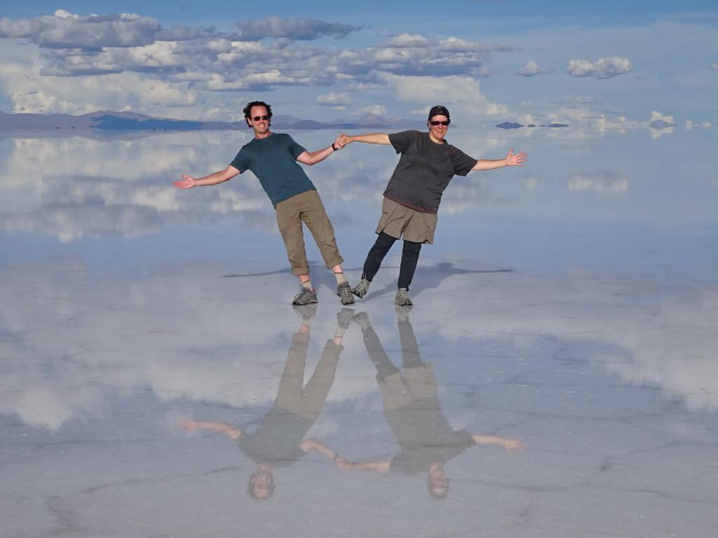 Rockin' my Darn Toughs on the Uyuni Salt Flats of Bolivia.