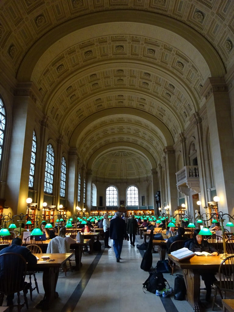 Exactly how you imagine the inside of Boston Public Library.
