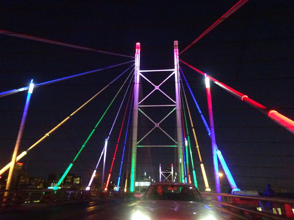 The Nelson Mandela bridge in Jburg.