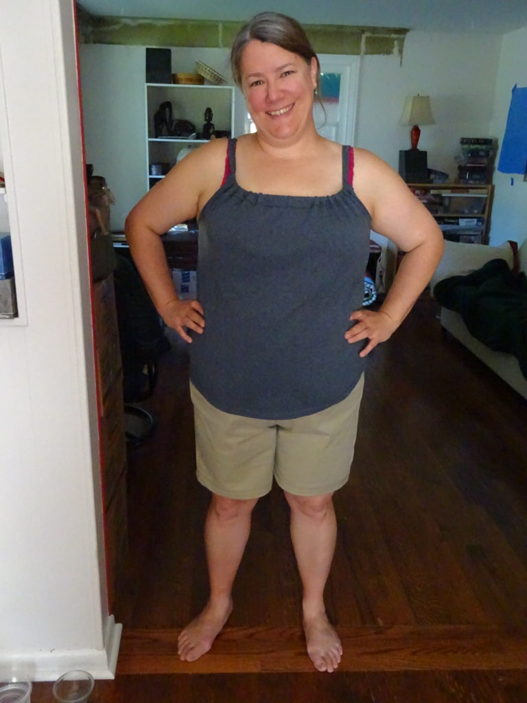 Summer Lovin' in her new ensemble! She's made another tank, as well.